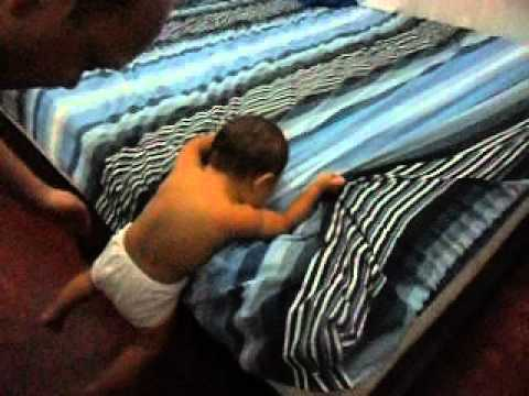 8-Month Old Baby Genius Climbs Down From Bed