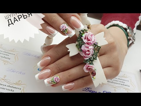 Свадебные акриловые ногти
