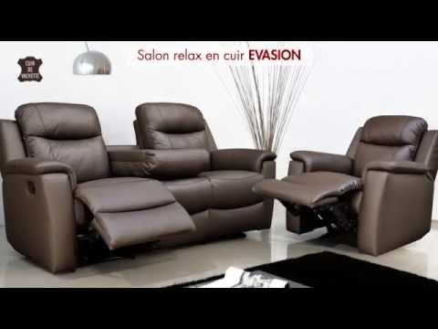 Fauteuil Relax Natuzzi.Canapes Et Fauteuil Relax En Cuir Evasion