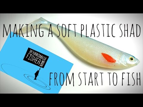 Making A Soft Plastic Lure From Start To Fish