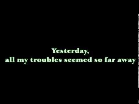 Yesterday - The Beatles - Paul McCartney - Cover & Lyrics