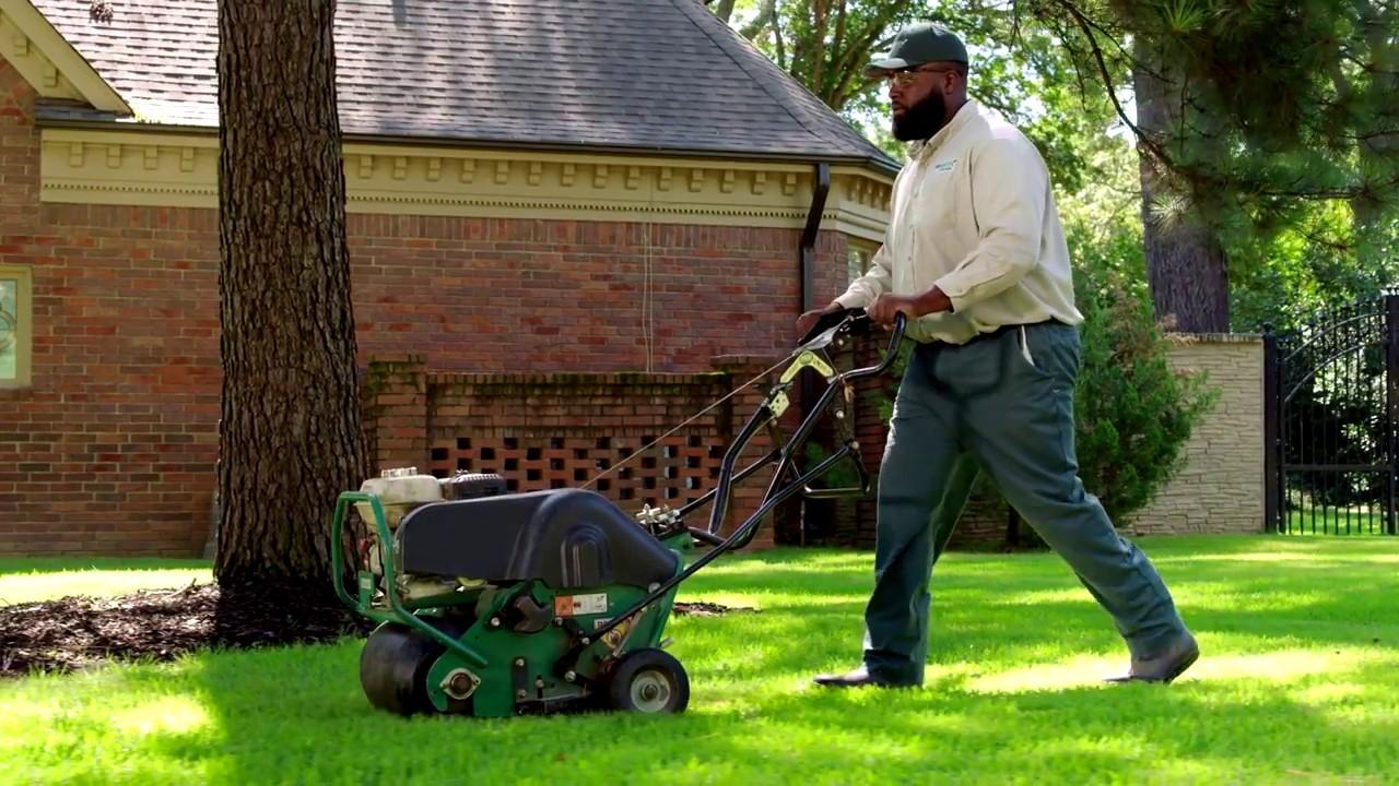 Fall Lawn Aeration By Trugreen