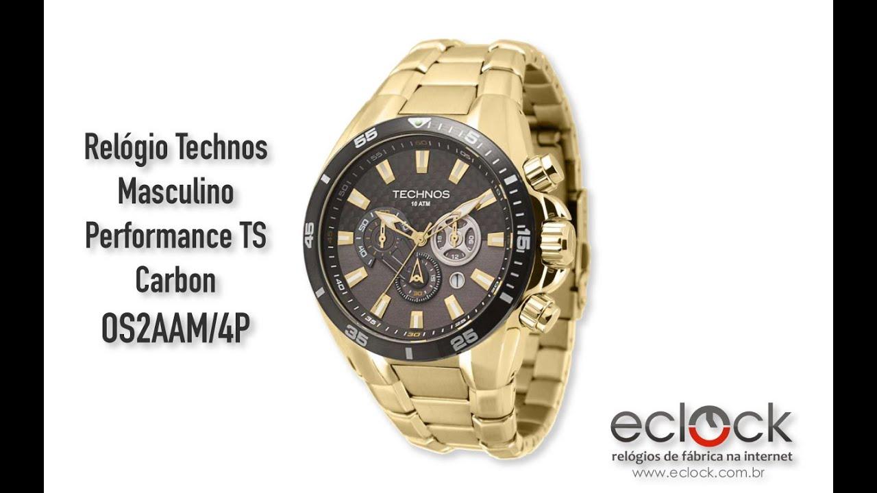 cad60880fd5 Relógio Technos Masculino Performance TS Carbon OS2AAM 4P - Eclock ...