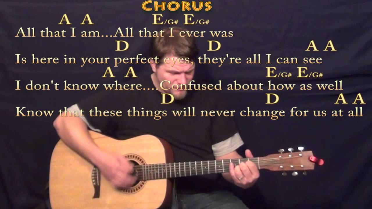 Chasing Cars Snow Patrol Strum Guitar Cover Lesson With Lyrics And