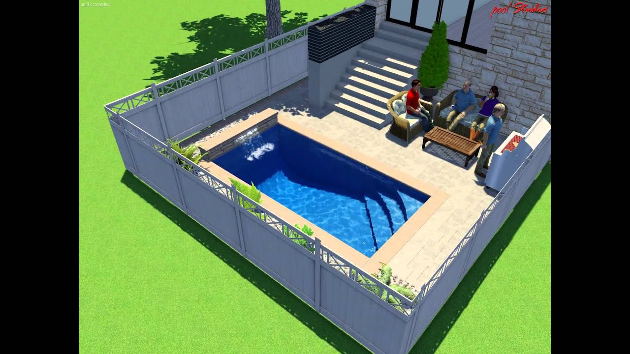 8 x 16 true rectangle inground pool youtube - Rectangle Pool