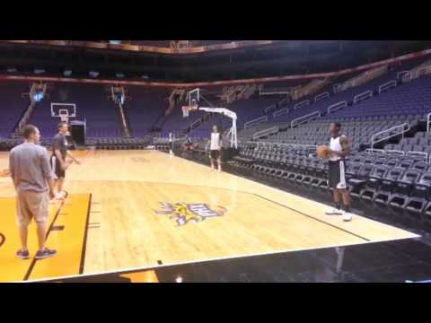 Jeff Hornacek Helps Rookie Archie Goodwin with his ''SET SHOT'' | November 11, 2013 | NBA 2013-14