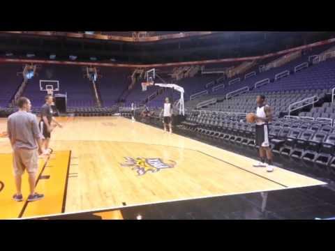 Jeff Hornacek Helps Rookie Archie Goodwin With His ''SET SHOT''   November 11, 2013   NBA 2013-14