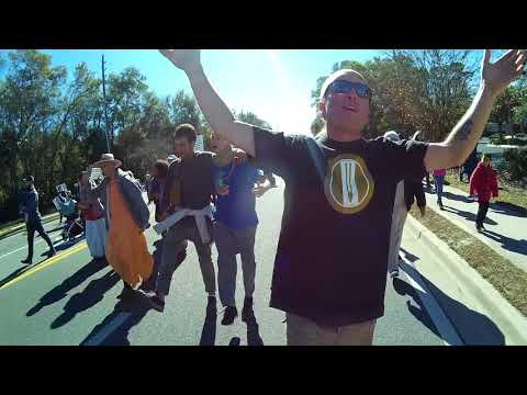 Alachua County Devotees Chant Hare Krishna in Gainesville Martin Luther King Day March