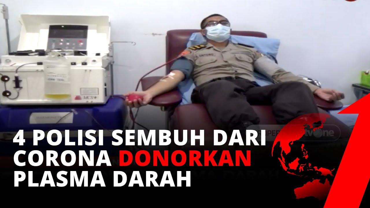 MANTAP! 4 Polisi Sembuh dari Corona Berhasil Donorkan Plasma Darah   Investigasi tvOne