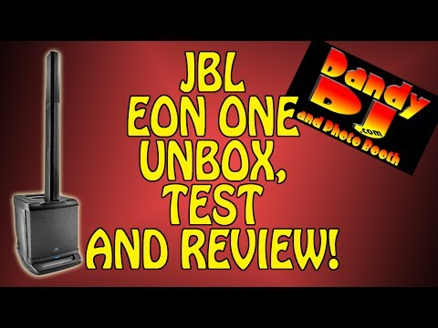 Dandy DJ JBL EON ONE Line Array Speakers Unbox and Review!