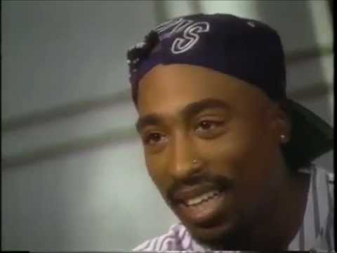 Tupac explains why rap is angry. (@ 1:16)
