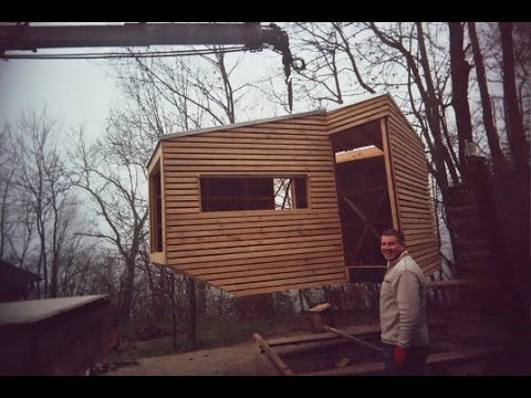 Tiny Wooden Cabin On Stilts Is A Cozy Escape In The Trees