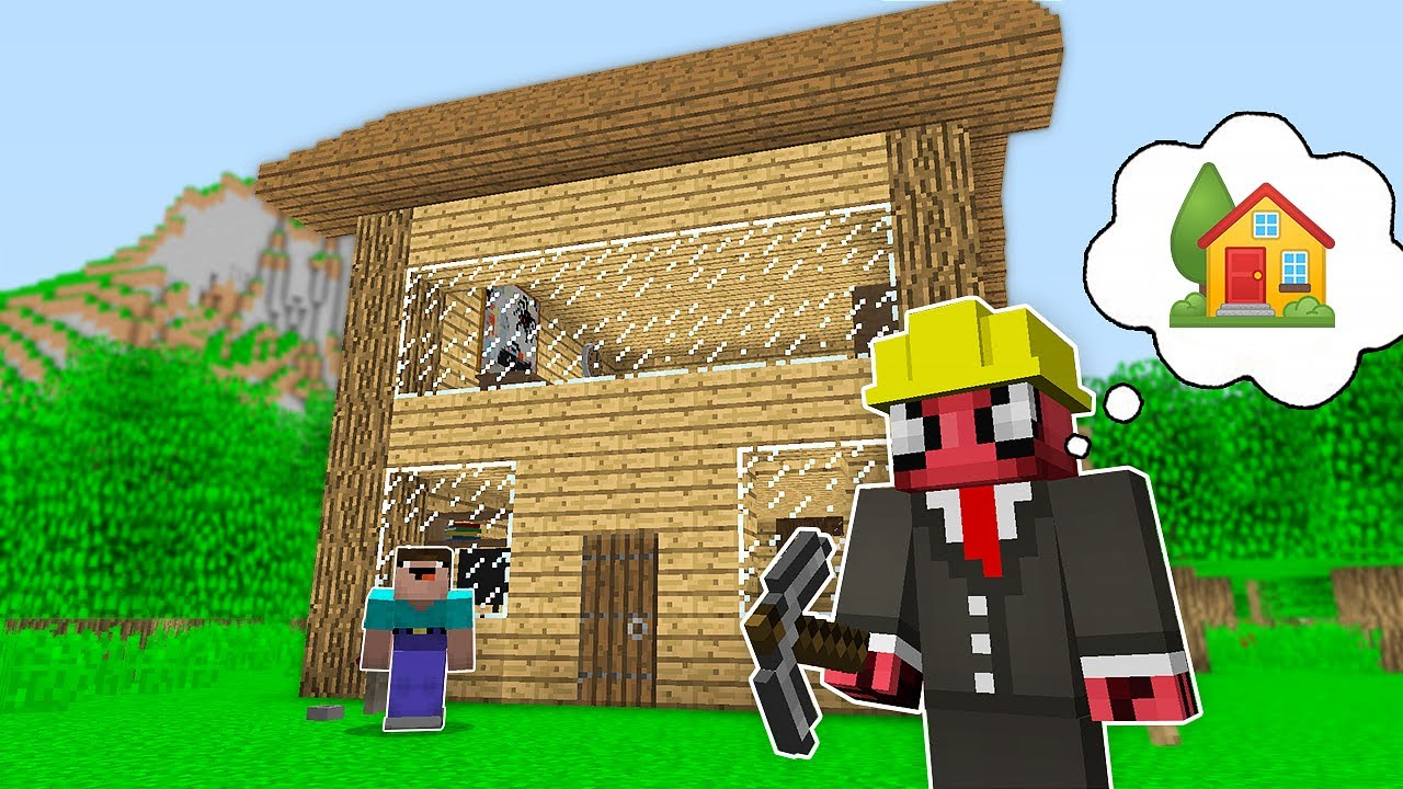 NOOB'A YENİ EV YAPTIK! 🏠 - Minecraft