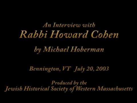 AUDIO INTERVIEW 26 - Rabbi Howard Cohen