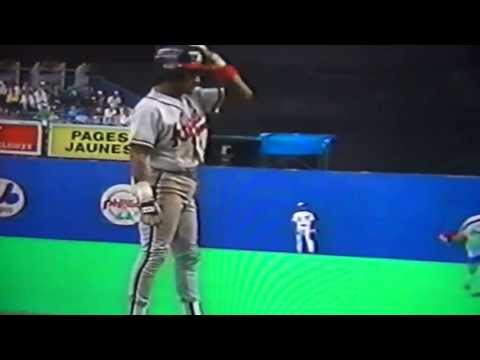 Otis Nixon Steals Six Bases One Game Against Montreal Expos