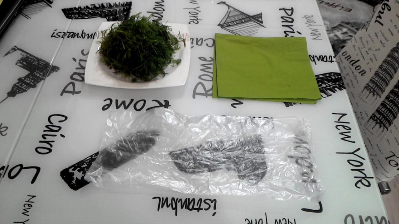 Yeşillikler Nasıl saklanır
