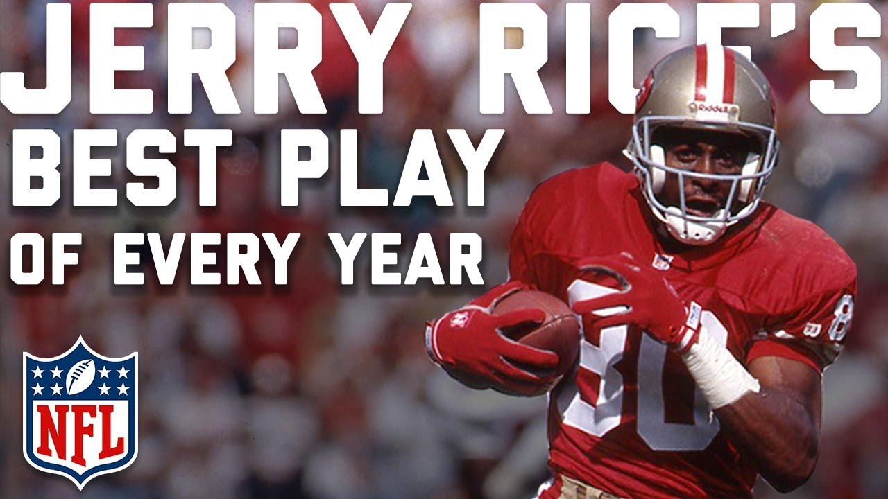 buy online 87bed 5de28 Jerry Rice's BEST PLAY from EVERY YEAR of His Career | NFL Highlights
