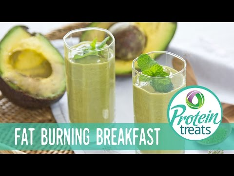 Avocado & Matcha Green Tea Smoothie Recipe Protein Treats By Nutracelle