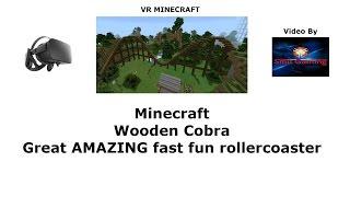 VR Minecraft - Houten Cobra Achtbaan in de Virtuele Werkelijkheid