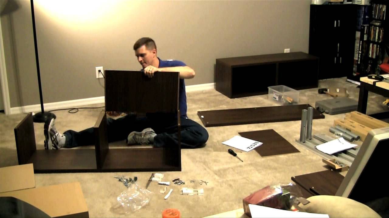 Ikea Besta/Framsta - Wall Mount Entertainment Center Assembly Part 1