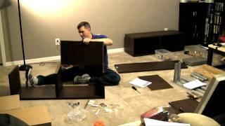 Ikea Besta/framsta - Wall Mount Entertainment Center Assembly Part 1