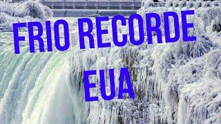 Frio recorde nos Estados Unidos - Imagens impressionantes