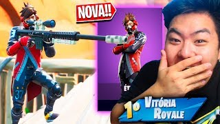 LOOK WHAT I DID USING THE NEW SKIN ÉTHER * EPIC *!! | FORTNITE