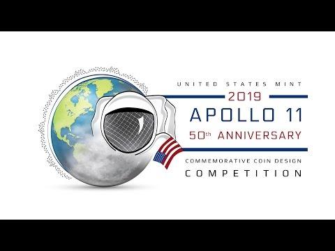 United States Mint 2019 Apollo 11 50th Anniversary Commemorative Coin Design Competition