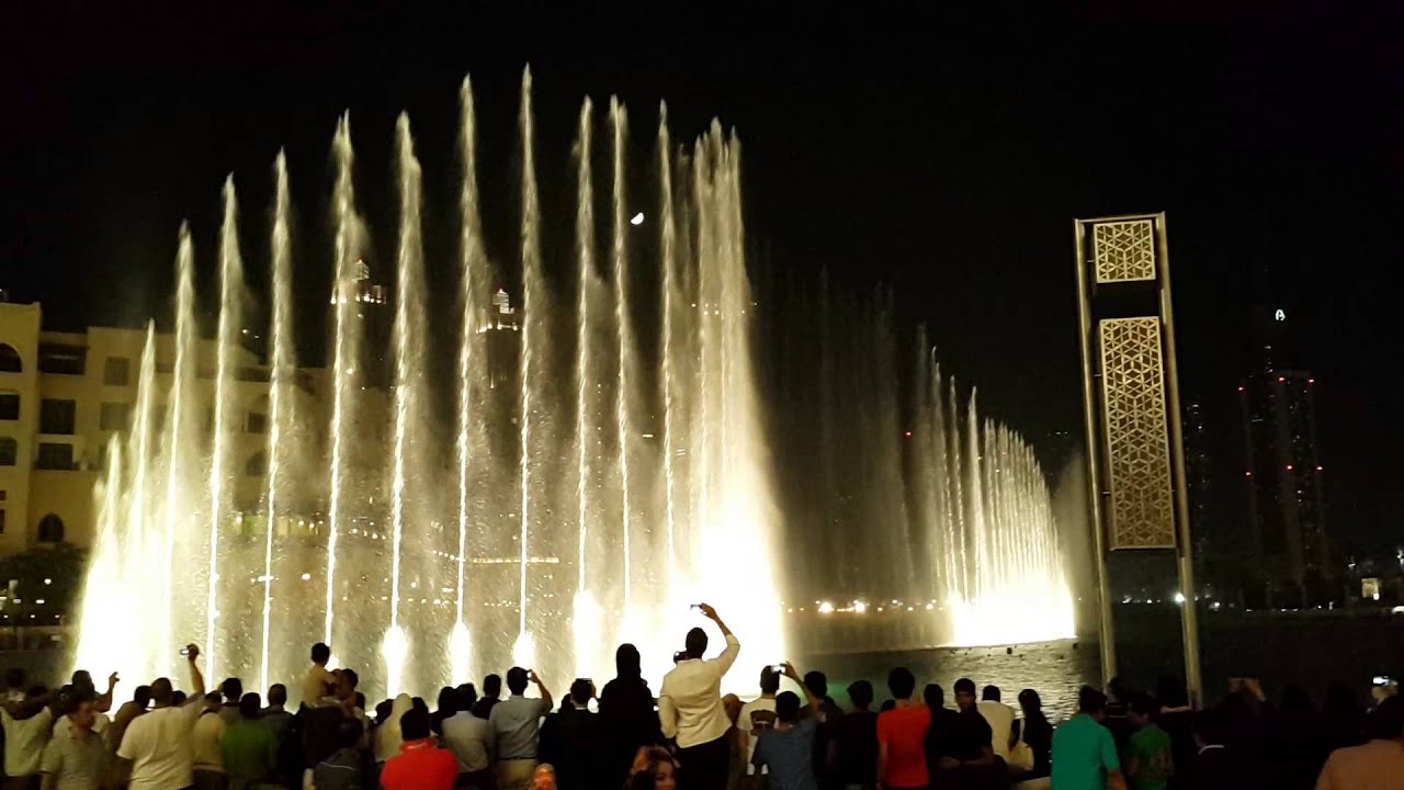 Dubai Burj Khalifa Fountain Arabic Song Youtube