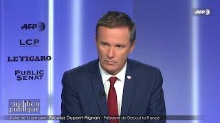 Invité : Nicolas Dupont-Aignan - Audition publique (03/12/2018)