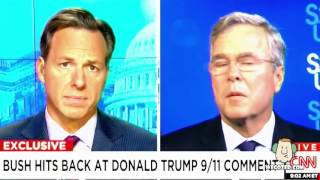 (Commentary)Jeb Bush And Donald Trump Go Back And Forth on W