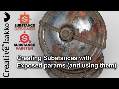 Creating Substances with Exposed Parameters and using them in Substance Painter