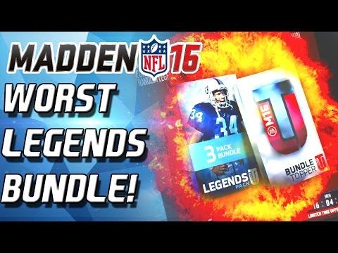 Madden 16 Ultimate Team - WORST LEGENDS BUNDLE YET! I GOT ROBBED! - MUT 16