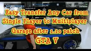 Transfer Any Car From Single Player To Garage Gta V
