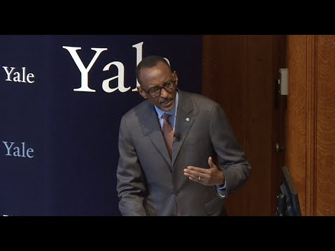 Coca-Cola World Fund Lecture at Yale: Paul Kagame, President of Rwanda