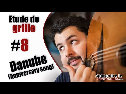Chord chart study #8 Danube (Anniversary Song) - Learning Gypsy Jazz