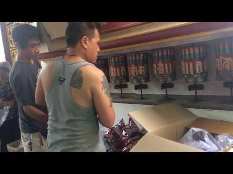 Preparation of Tibetan Tsok Distribution.