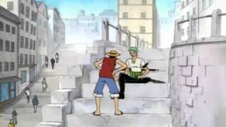 One Piece funny scene - Luffy proud of being lost