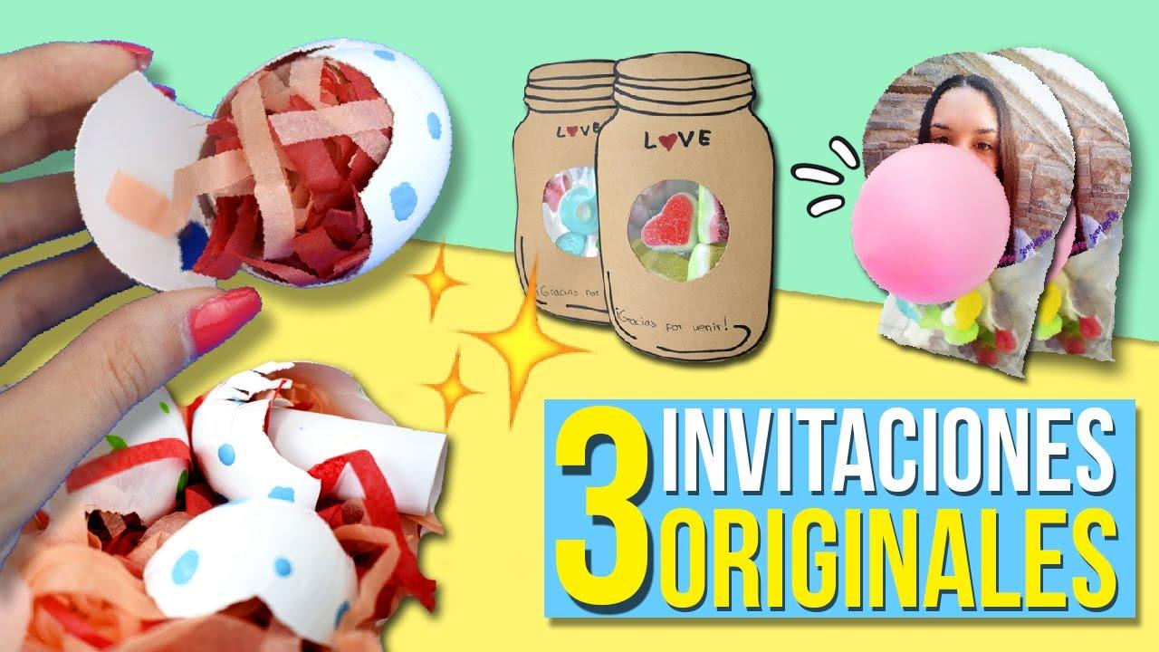 3 INVITACIONES Sper ORIGINALES para TU FIESTA TARJETAS de