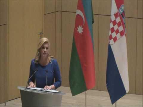 Ada President University At Croatian Grabar Speaks Kitarovi Kolinda vwm8nN0O