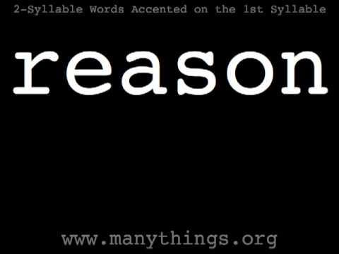 American English Pronunciation - 2-syallble Words Accented