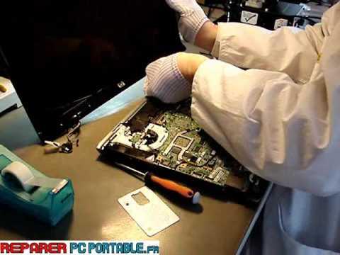 reparation demontage pc portable hp dv 9000 partie 1 6 doovi. Black Bedroom Furniture Sets. Home Design Ideas