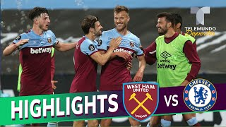 Highlights & Goals | West Ham United Vs. Chelsea 3 2 | Telemundo Deportes