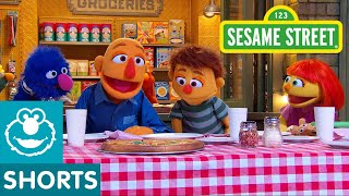 Sesame Street: The Pizza Problem with Julia and her family