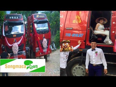 Chú rể mang hai xe container đón mối tình 8 năm   CHUYỆN LẠ
