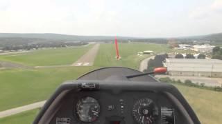 ROUGH LANDING!! ASK 21 Glider lands in Dansville, NY (KDSV)