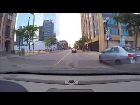 Driving in Hamilton, Ontario - Mountain to Downtown James Street [GoPro 2015]