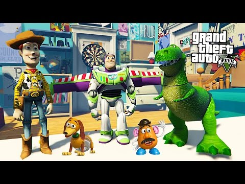 TOY STORY w/ BUZZ LIGHTYEAR & WOODY!! (GTA 5 Mods)