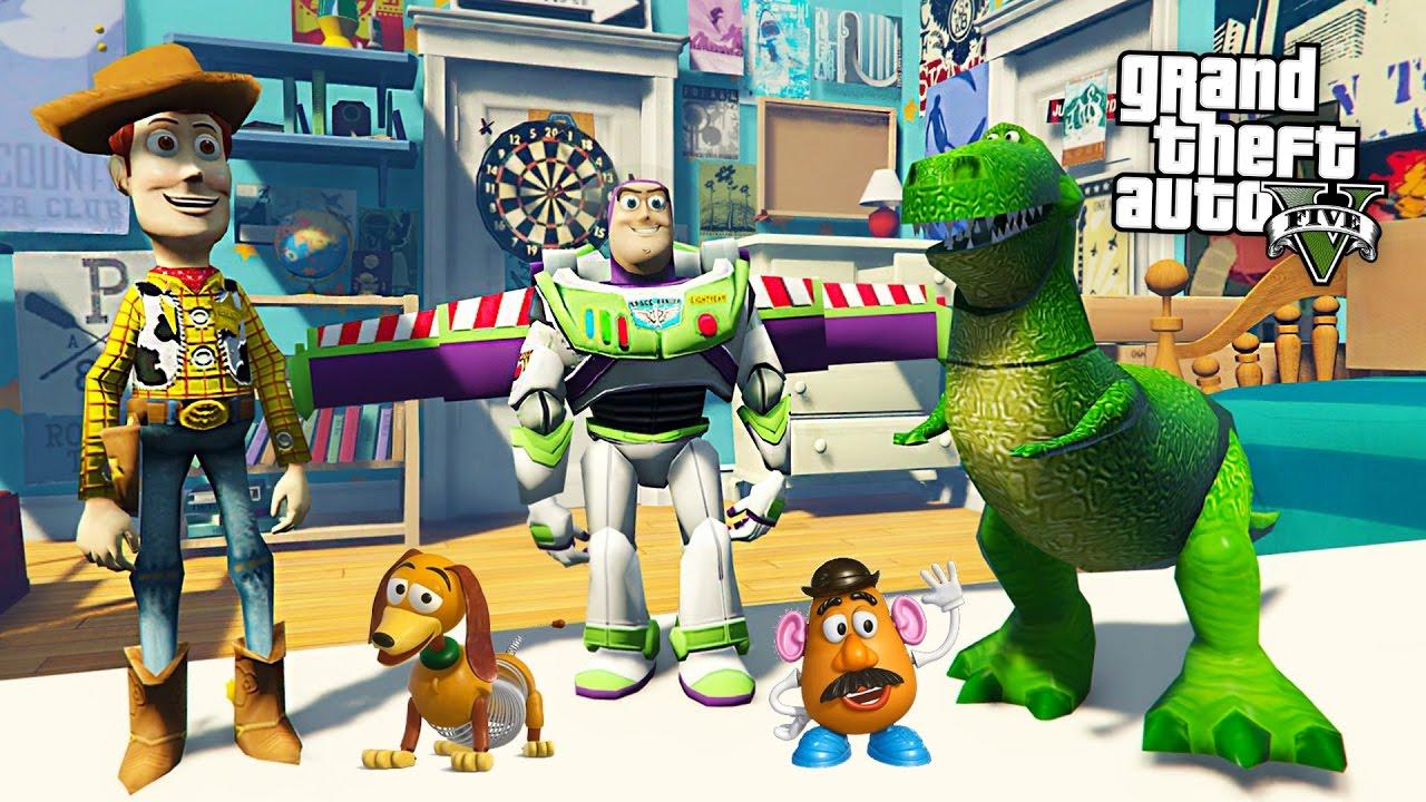 Toy story w buzz lightyear woody gta 5 mods youtube for Toy story 5 portada