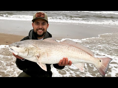 The Best Fish Of My Life - Big Red Drum - Outer Banks Beach Fishing
